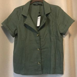 NWT Vero Moda Button Up Linen